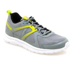 Reebok Run Supreme Sepatu Lari Pria - Flat Grey-S Solar Yellow-Hitam