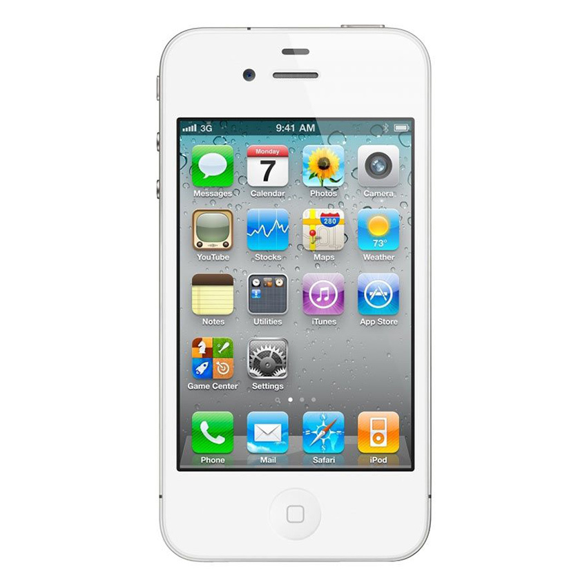 Refurbished Apple iPhone 4 - 32GB - Putih - Grade A