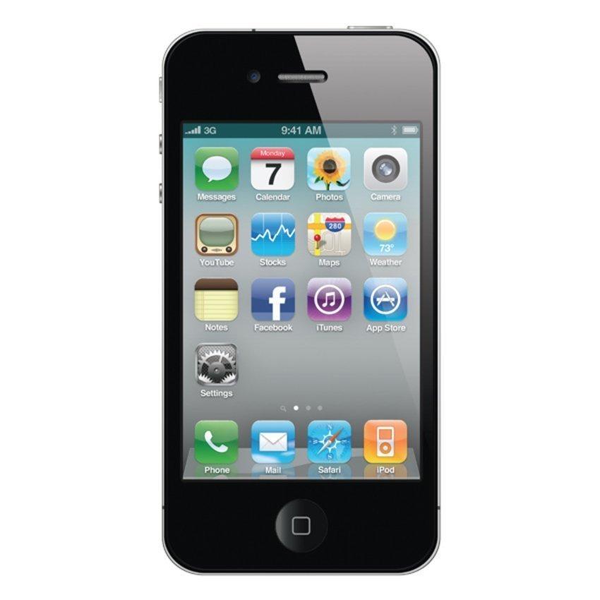 Refurbished Apple iPhone 4 CDMA - 16GB - Hitam - Grade A