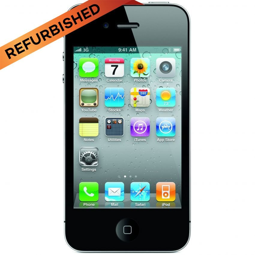 Refurbished Apple iPhone 4S - 16 GB - Hitam - Grade A