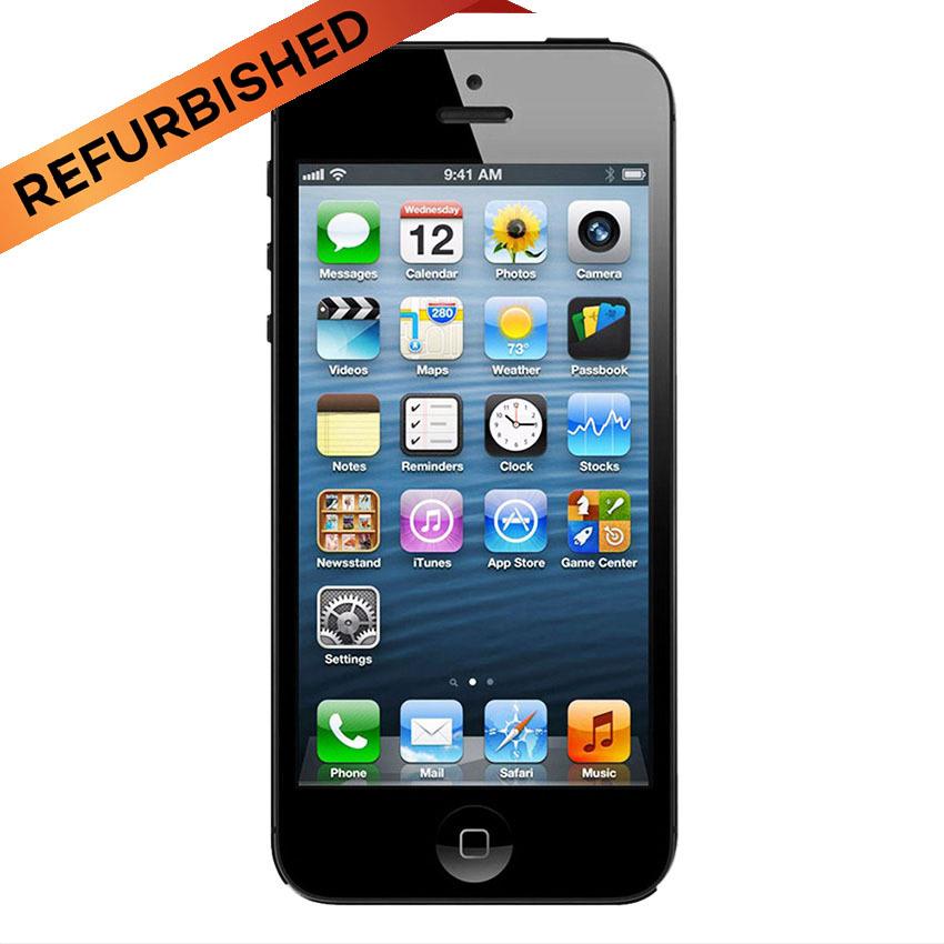 Refurbished Apple iPhone 5 - 16 GB - Hitam - Grade A