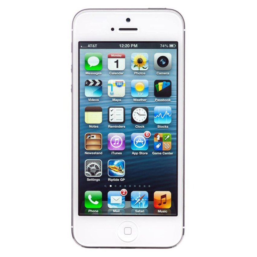 Refurbished Apple iPhone 5 GSM/CDMA - 16GB - Putih - Grade A