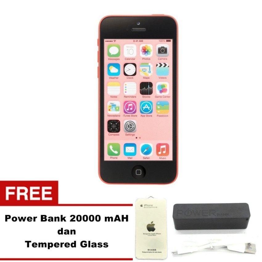 Refurbished Apple iPhone 5C - 32 GB - Pink - Grade A + Gratis Tempered Glass + Power Bank 20000mAH