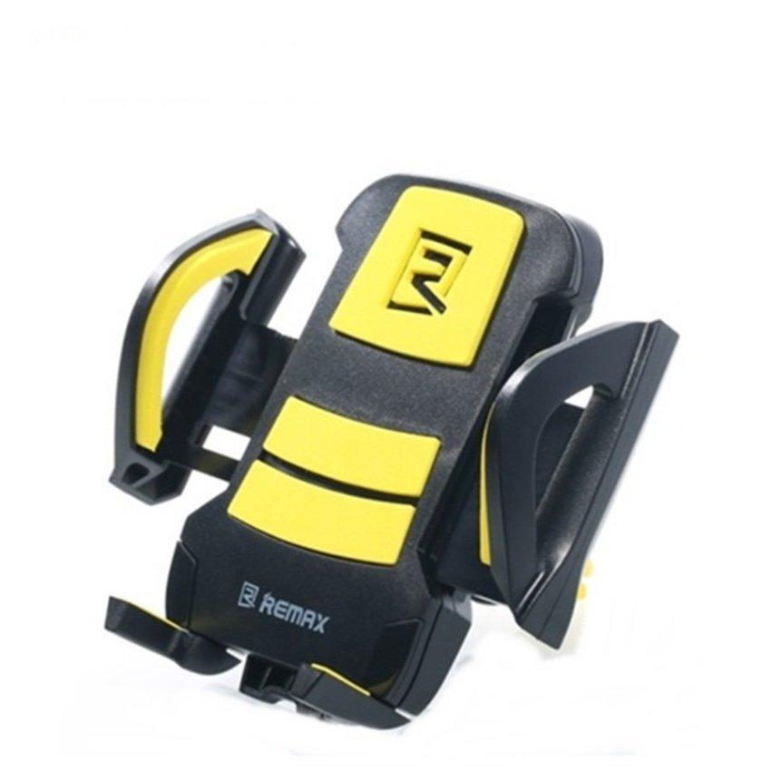 Remax Air Vent Smartphone Holder - RM-C03 - Hitam/Kuning