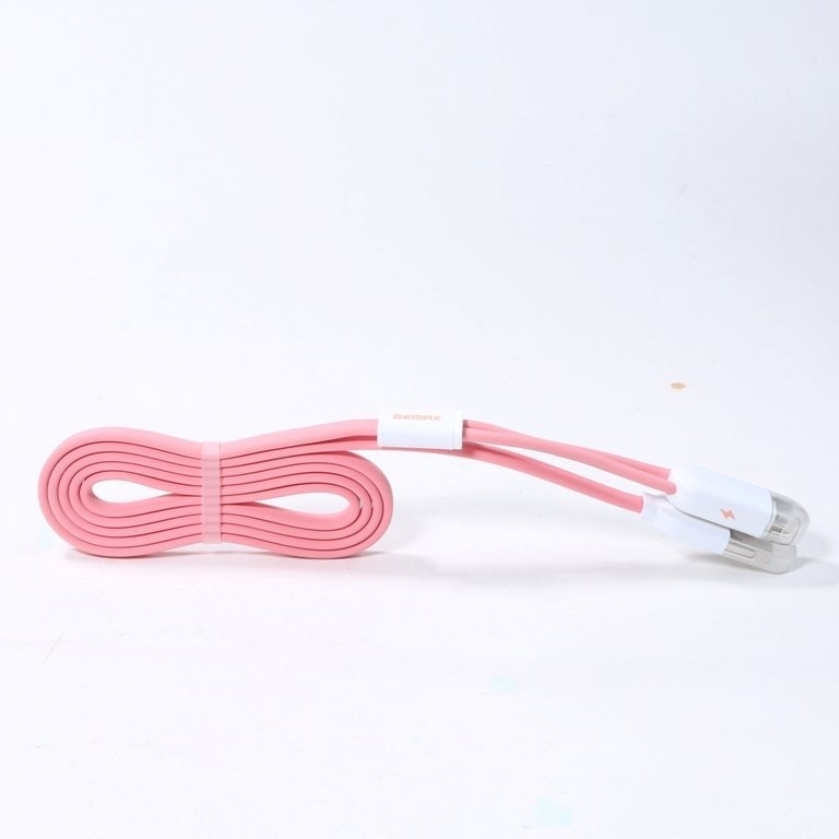 Remax Binary Star High Speed 2 in 1 Micro Usb / Lightning Pin for Smartphone - Pink