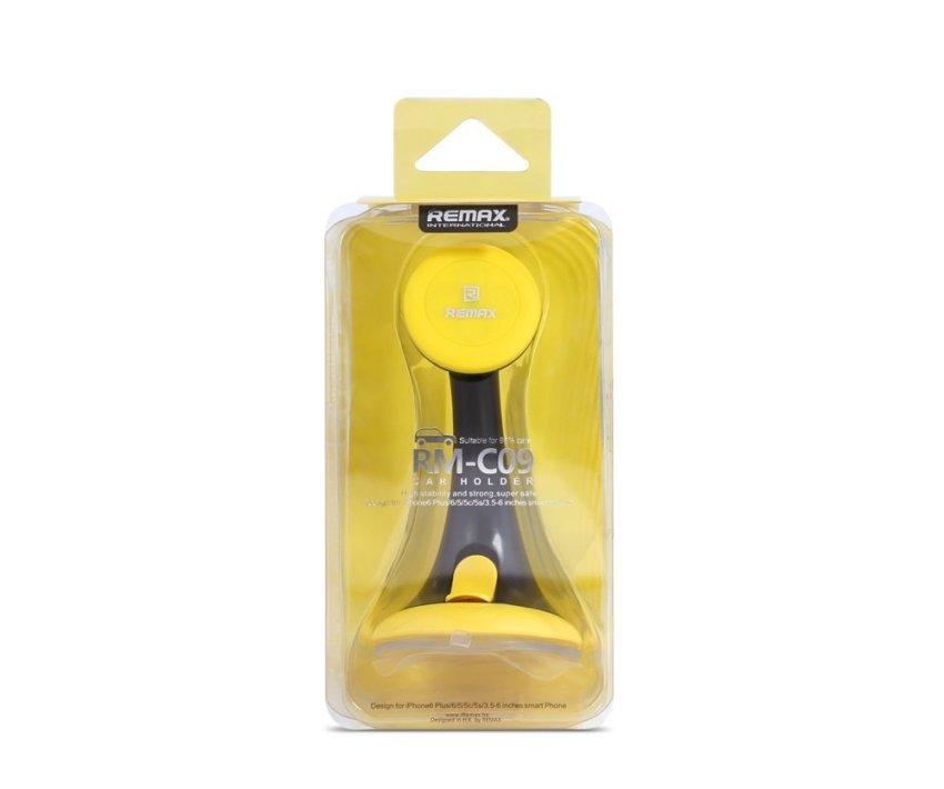Remax Car Holder RM-C09 Car Stand - Hitam-Kuning