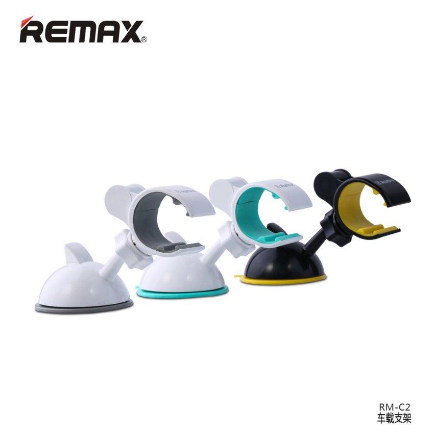 Remax Car Suction Cup Smartphone Holder - RM-C02 - Abu-abu/Putih