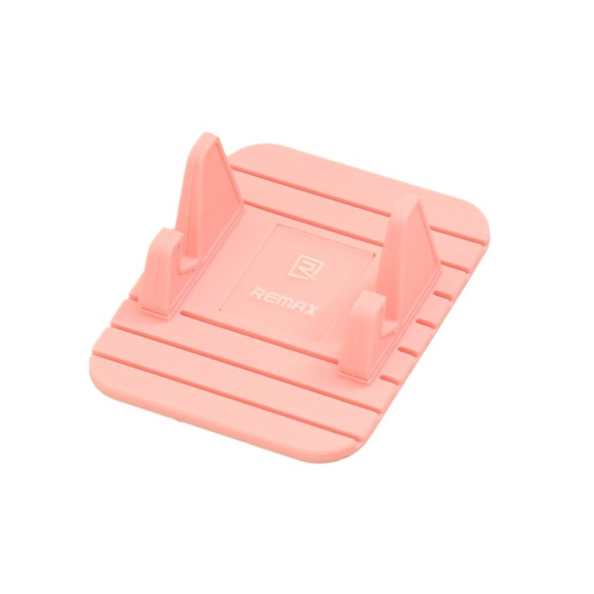 Remax Fahsion Silicone Gel Mobile Phone Car Holder Stand Bracket Non-slip Stability Desk Holder For Android&iPhone GPS Pink (Intl)