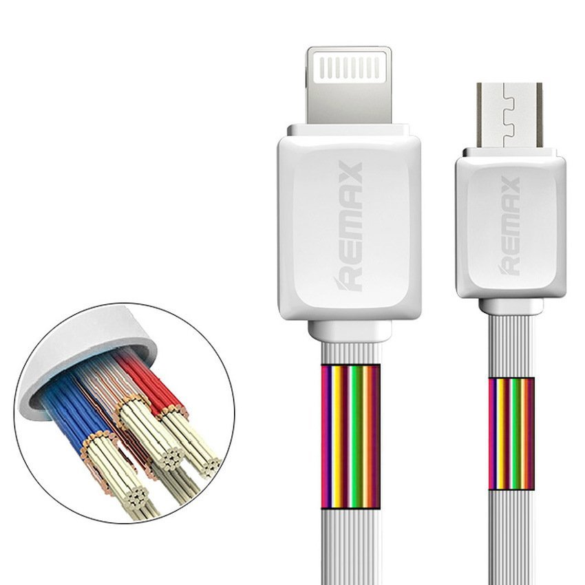 Remax iPhone iPad Kabel Data & Charge - Fast Charge Lightning Cable - 1 Meter - Biru