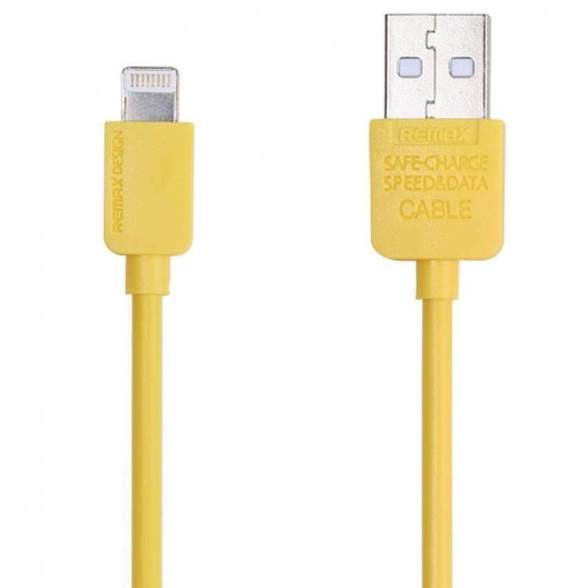 Remax Light Speed Lightning Cable 1m for iPhone 6/6+/5/5s - Kuning