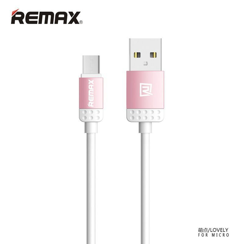 Remax Lovely Lightning Cable for iPhone6/6+/5/5s - Pink