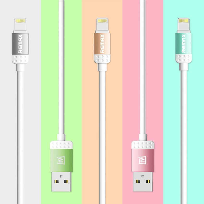 Remax Lovely Lightning Data Cable for Iphone 5/5S 6/6 Plus - Original - Pink
