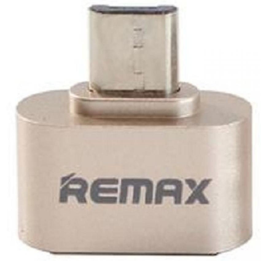 Remax Micro USB to USB OTG Plug for Smartphone - Emas