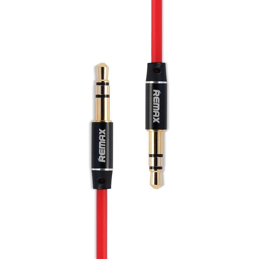Remax Premium AUX Cable 3.5mm 2 Meter for Headphone Speaker Smartphone - Merah