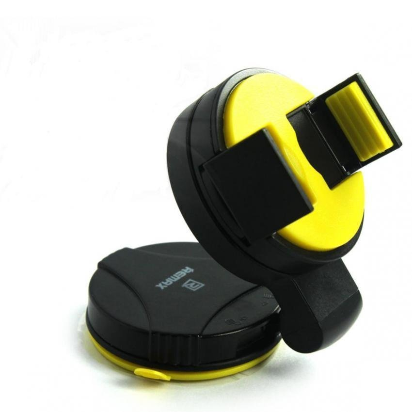 REMAX RM-C07 Car Windscreen / Dashboard Car Mobile Phone Holder Black+Yellow (Intl)