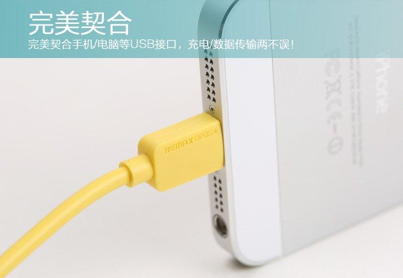 Remax Safe Charge Lightning 1M - Putih