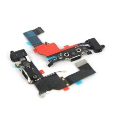 Replacement Charger Port Dock Connector Flex Cable USB Port Charging Port For IPhone 5S (Black)