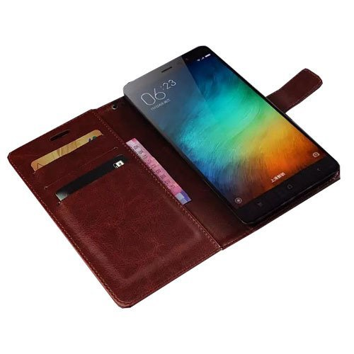 Retro Flip Case Xiaomi redmi Note 3 - Retro Flip Case - Cokelat
