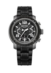 Rhythm S1413.04 - Jam Tangan Pria - Stainless - Black Grey