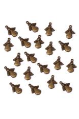 RIS Bronze Tone Angel Charm Necklace Bracelet Pendant Set Of 20 (Intl)