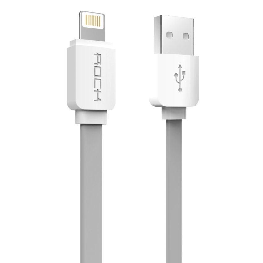 ROCK 1M 2.1A Ultral Speed USB Data Sync Charging Cable for Lightning Port For iPhone5s 6s plus iPad4 5 6 mini 2 3 Air 2 Charge Line (Intl)