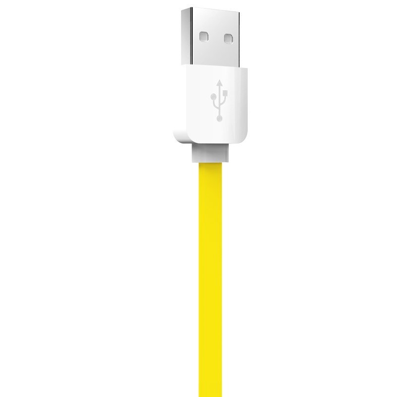 Rock 1m Lightning quick charging usb cable sync data line for iPhone 5/5s/6/6plus / iPad device (Yellow) (Intl)