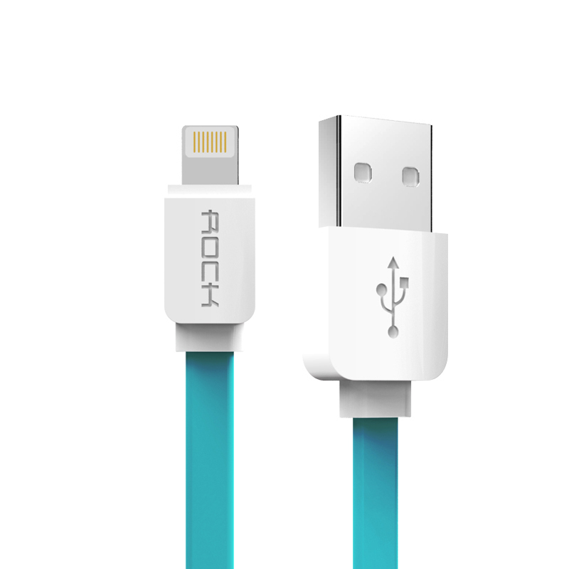 Rock 32cm Lightning quick charging usb cable sync data line for iPhone 5/5s/6/6plus / iPad device (Blue) (Intl)