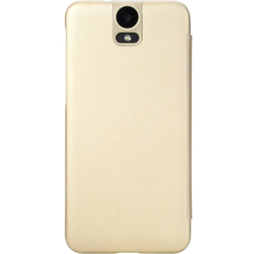Rock Leather Cover for HTC One E9 (Gold)