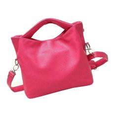 Rose Red 2015 Women's Genuine Leather Shoulder Bags Women Messenger Bags Handbags Women Famous Brand Bag (Intl)