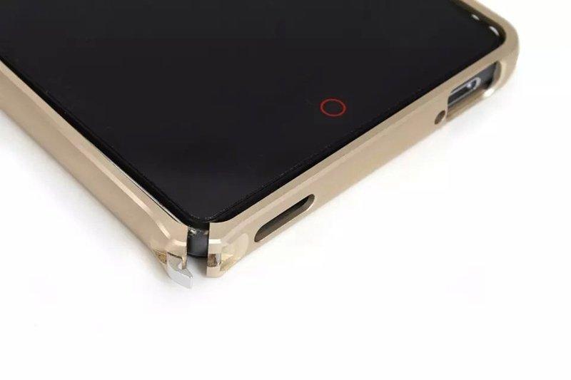 Rosy Lightweight Hard Metal Bumper Frame Case Hippocampal Buckle Side Protection ZTE Nubia Z9 Mini Case (Intl)