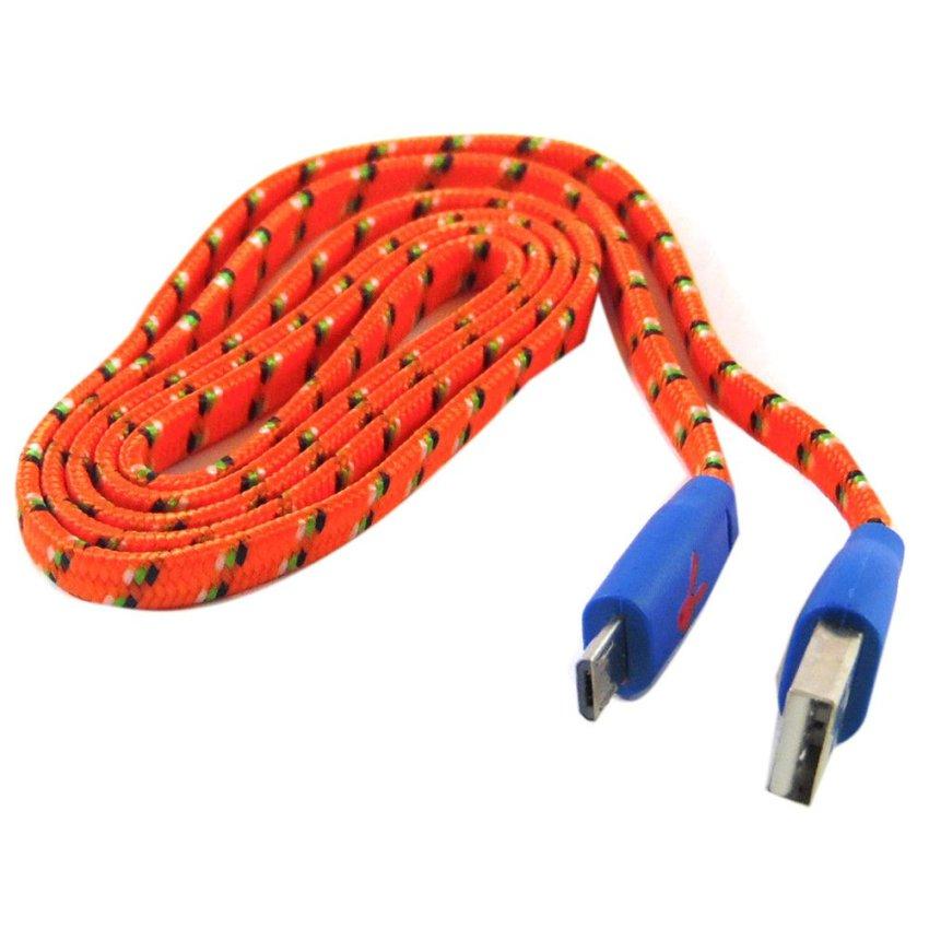 Rotamart Kabel Micro USB 1 Meter - Orange Hijau