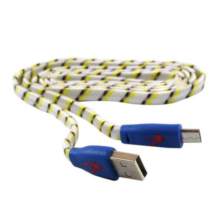 Rotamart Kabel Micro USB 1 Meter - Putih-Kuning