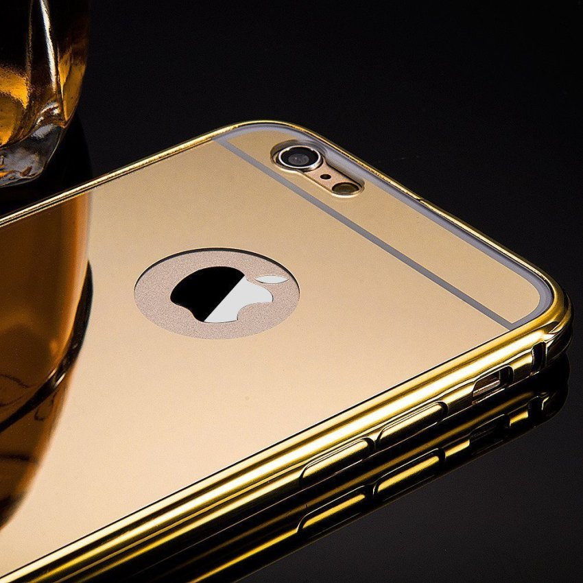 Roybens Luxury Air Aluminum Ultra Thin 2 in 1 Detachable Mirror Metal Frame Bumper Hard Back Case cover for Apple iPhone 6s Gold (Intl)