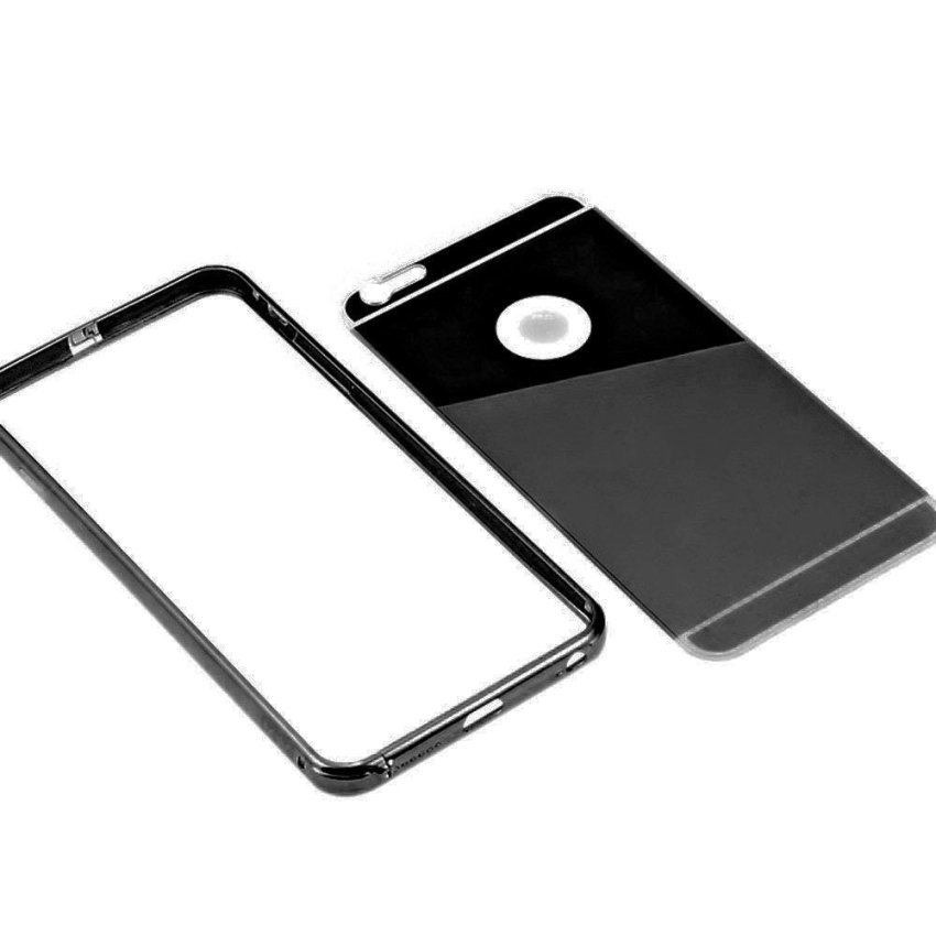 Roybens Luxury Aluminum Ultra-thin Bumper Mirror Metal Case Cover for iPhone 5 5s Black (Intl)
