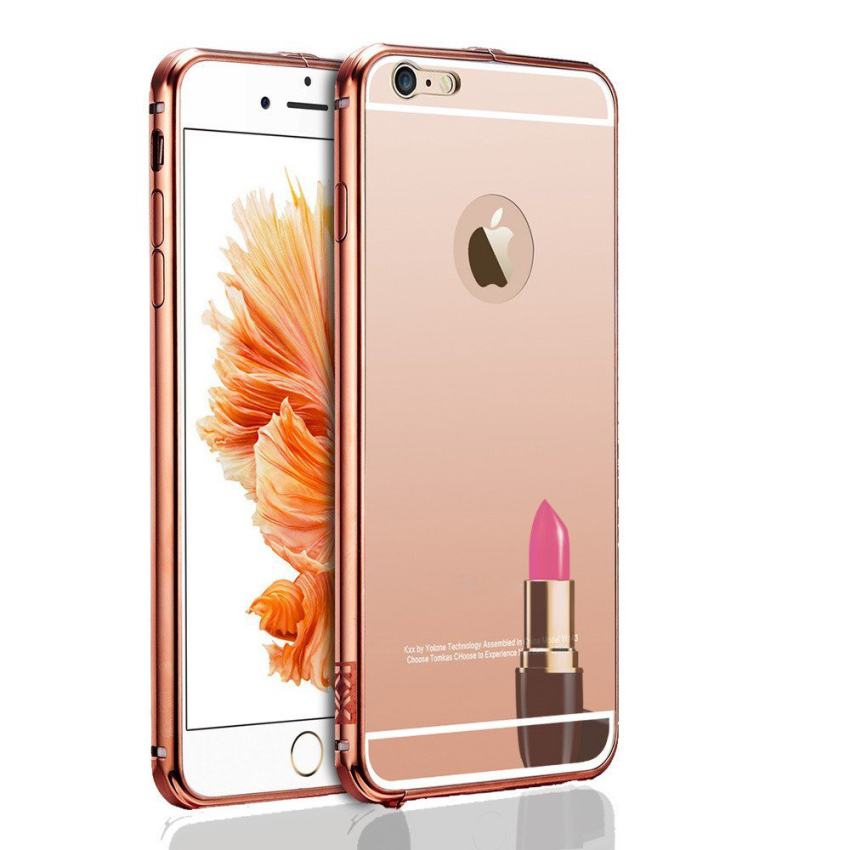 Roybens Luxury Aluminum Ultra-thin Bumper Mirror Metal Case Cover for iPhone 5 5s RoseGold (Intl)