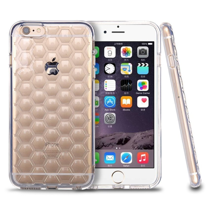Roybens Shockproof Flexible High Impact Armor Defender Case for iPhone 6 6s Clear (Intl)