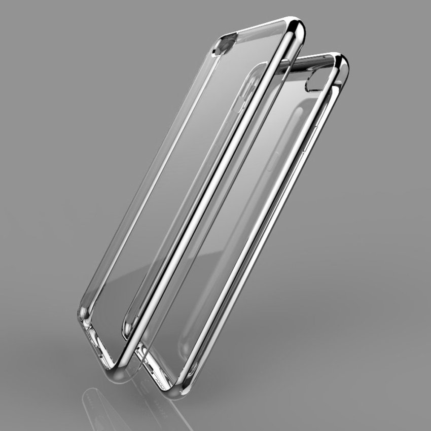 Roybens Shockproof Sillicone TPU Metal Soft Case for Apple iPhone 6 6S Plus Silver (Intl)