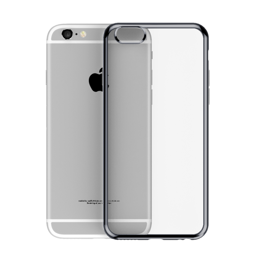 Roybens Ultra-thin Sillicone Metal Soft Case for Apple iPhone 6/6S Plus (Grey) (Intl)