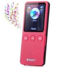 RUIZU X0.8GB 200 Hours Digital MP3 Player Music Vedio Player Supporting TF Card FM Stereo Radio (Red) - Intl