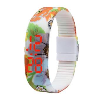 S & F Girl Sports Silicone Digital LED Sports Bracelet Wrist Watch