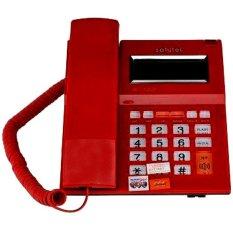 Sahitel Telepon Kabel dengan LCD Single Line S52 - Merah