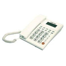 Sahitel Telepon Kabel dengan LCD Single Line S52 - Putih