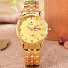 Saint Costie Original Brand - Jam Tangan Wanita - Body Gold - Gold Dial - Stainless Steel Band - SC-RT-8001L-GG