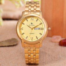 Saint Costie Original Brand - Jam Tangan Wanita - Body Gold - Gold Dial - Stainless Steel Band - SC-RT-8006GL-GG