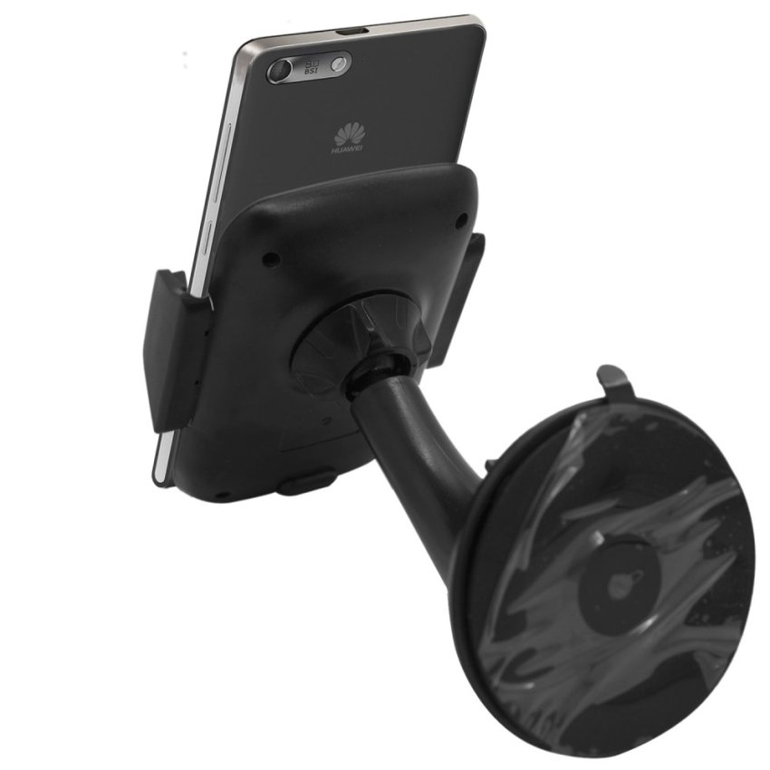 Samrick Specially Made To Measure 360 Degree Rotation Car Windscreen/Dashboard Mount/Holder With One-Step Mounting Technology for Huawei Ascend G6 (Black) (Intl)