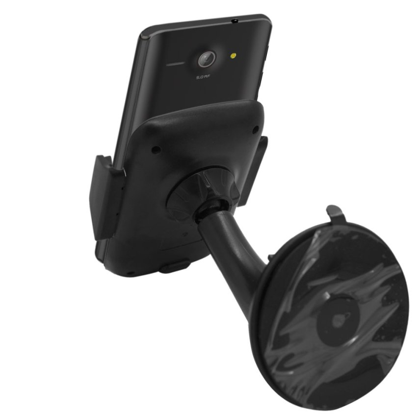Samrick Specially Made To Measure 360 Degree Rotation Car Windscreen/Dashboard Mount/Holder With One-Step Mounting Technology for Huawei Ascend Y530 (Black) (Intl)