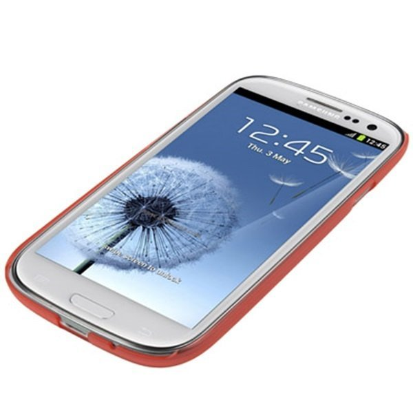 Samsung 0.7mm Ultra Thin Polycarbonate Translucent Protective Shell for Samsung Galaxy SIII / i9300 - Merah