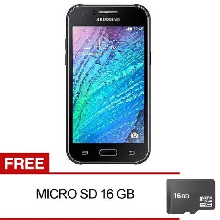 Samsung Galaxy J1 Ace SM-J110G Dual Sim - 4GB - Hitam + Gratis MMC 16GB