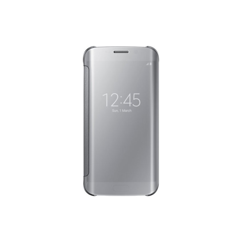 Samsung Galaxy S6 Edge Clear View Cover Original - Silver