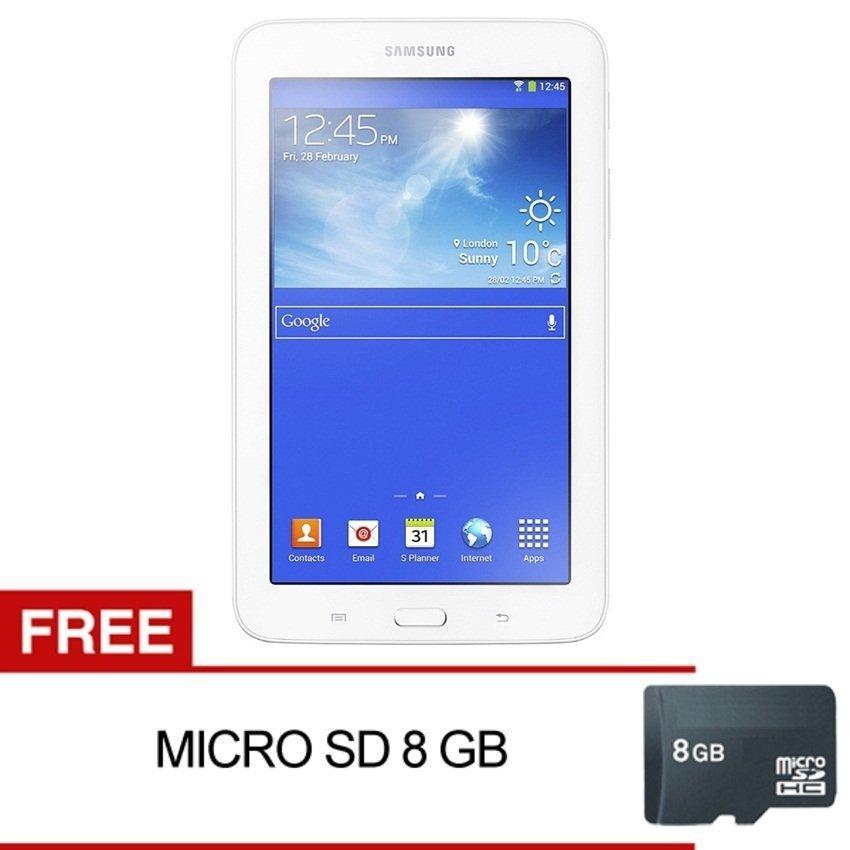 Samsung Galaxy Tab 3V T116 - 8GB - Putih + Gratis Micro SD 8GB